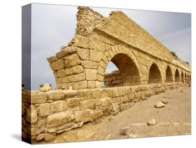 Roman Ruins in Caesarea, Israel, Middle East-Michael DeFreitas-Stretched Canvas Print