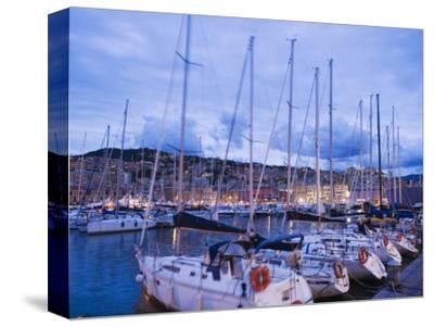 Boats in Porto Vecchio Marina, Genoa (Genova), Liguria, Italy, Europe-Christian Kober-Stretched Canvas Print