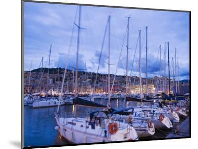 Boats in Porto Vecchio Marina, Genoa (Genova), Liguria, Italy, Europe-Christian Kober-Mounted Photographic Print