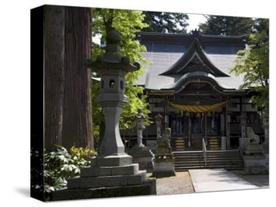 Hiyoshi Shinto Shrine in Echizen-Ono Town, Fukui Prefecture, Japan--Stretched Canvas Print