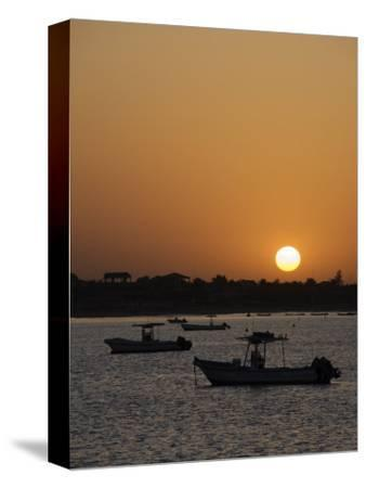 Sunrise at Saly, Senegal, West Africa, Africa-Robert Harding-Stretched Canvas Print