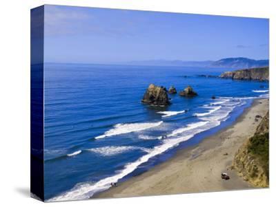 Coastline Near Crescent City, Northern California, United States of America, North America-Michael DeFreitas-Stretched Canvas Print