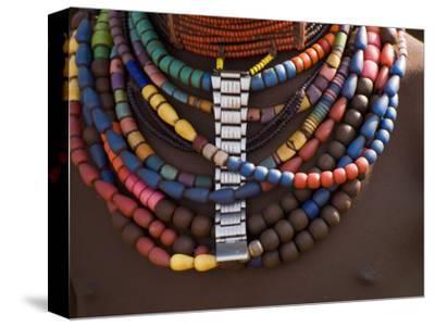 Close-Up of Bead Necklaces of a Hamer Woman, Turmi, Omo Region, Ethiopia, Africa-Carlo Morucchio-Stretched Canvas Print