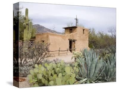 Adobe Mission, De Grazia Gallery in Sun, Tucson, Arizona, United States of America, North America-Richard Cummins-Stretched Canvas Print