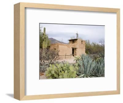Adobe Mission, De Grazia Gallery in Sun, Tucson, Arizona, United States of America, North America-Richard Cummins-Framed Photographic Print