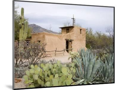 Adobe Mission, De Grazia Gallery in Sun, Tucson, Arizona, United States of America, North America-Richard Cummins-Mounted Photographic Print