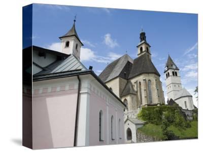 Church, Kitzbuhel, Austria, Europe-Martin Child-Stretched Canvas Print