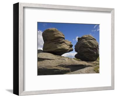 Wain Stones on Bleaklow Moor, Peak District National Park, Derbyshire, England-Neale Clarke-Framed Photographic Print