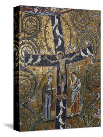 12th Century Fresco of Christ's Triumph on the Cross, San Clemente Basilica, Rome, Lazio-Godong-Stretched Canvas Print