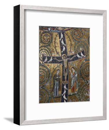 12th Century Fresco of Christ's Triumph on the Cross, San Clemente Basilica, Rome, Lazio-Godong-Framed Photographic Print