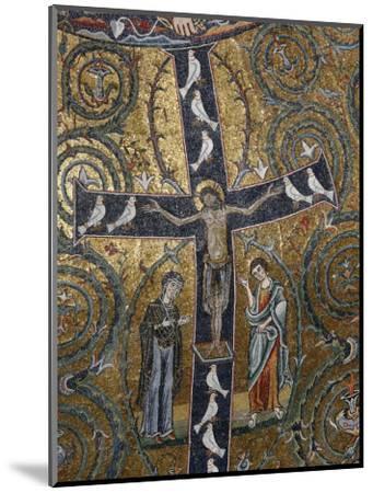 12th Century Fresco of Christ's Triumph on the Cross, San Clemente Basilica, Rome, Lazio-Godong-Mounted Photographic Print