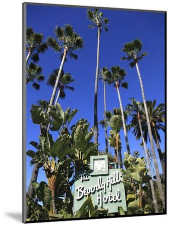 Sign for Beverly Hills Hotel, Beverly Hills, Los Angeles, California, Usa-Wendy Connett-Mounted Photographic Print
