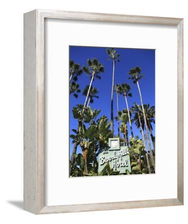 Sign for Beverly Hills Hotel, Beverly Hills, Los Angeles, California, Usa-Wendy Connett-Framed Photographic Print