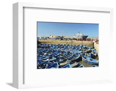 Port, Essaouira, Atlantic Coast, Morocco, North Africa, Africa-Jochen Schlenker-Framed Photographic Print