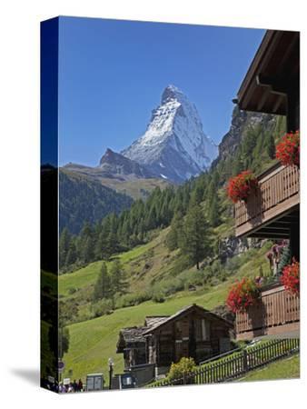 Matterhorn, Zermatt, Canton Valais, Swiss Alps, Switzerland, Europe-Angelo Cavalli-Stretched Canvas Print