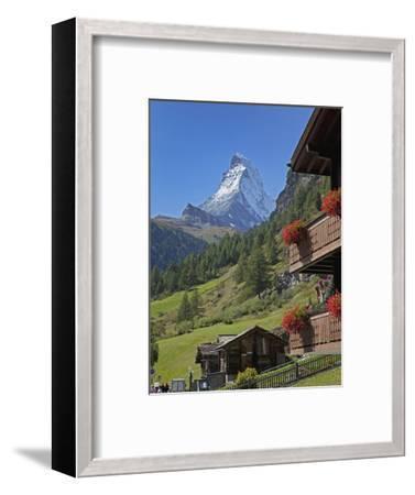 Matterhorn, Zermatt, Canton Valais, Swiss Alps, Switzerland, Europe-Angelo Cavalli-Framed Photographic Print