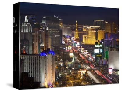 Elevated View of the Hotels and Casinos Along the Strip at Dusk, Las Vegas, Nevada, USA-Gavin Hellier-Stretched Canvas Print