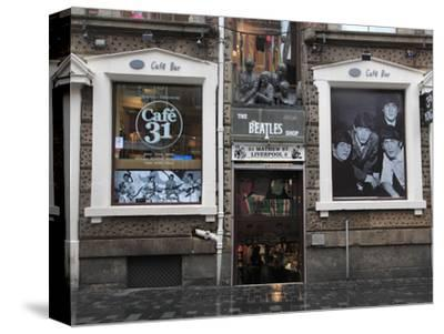 Beatles Shop, Mathew Street, Liverpool, Merseyside, England, United Kingdom, Europe-Wendy Connett-Stretched Canvas Print