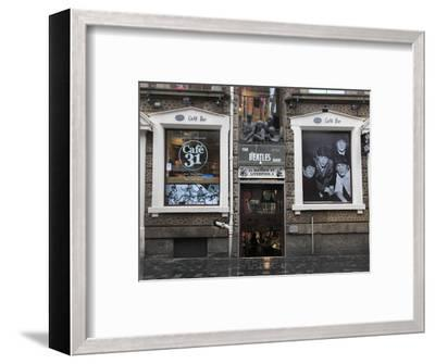 Beatles Shop, Mathew Street, Liverpool, Merseyside, England, United Kingdom, Europe-Wendy Connett-Framed Photographic Print