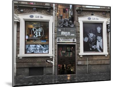 Beatles Shop, Mathew Street, Liverpool, Merseyside, England, United Kingdom, Europe-Wendy Connett-Mounted Photographic Print