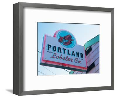 Lobster Restaurant, Portland, Maine, New England, United States of America, North America-Alan Copson-Framed Photographic Print