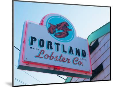 Lobster Restaurant, Portland, Maine, New England, United States of America, North America-Alan Copson-Mounted Photographic Print
