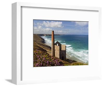 Ruins of Wheal Coates Tin Mine Engine House, Near St Agnes, Cornwall, England-Stuart Black-Framed Photographic Print