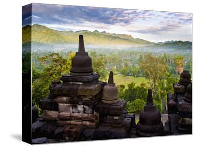 Stone Stupa, Borobudur (Borobodur), UNESCO World Heritage Site, Yogyakarta, Java, Indonesia-Matthew Williams-Ellis-Stretched Canvas Print