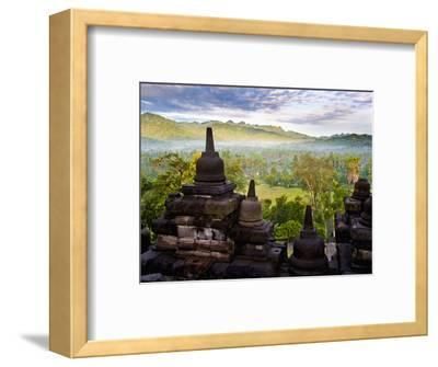 Stone Stupa, Borobudur (Borobodur), UNESCO World Heritage Site, Yogyakarta, Java, Indonesia-Matthew Williams-Ellis-Framed Photographic Print