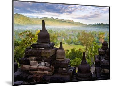 Stone Stupa, Borobudur (Borobodur), UNESCO World Heritage Site, Yogyakarta, Java, Indonesia-Matthew Williams-Ellis-Mounted Photographic Print