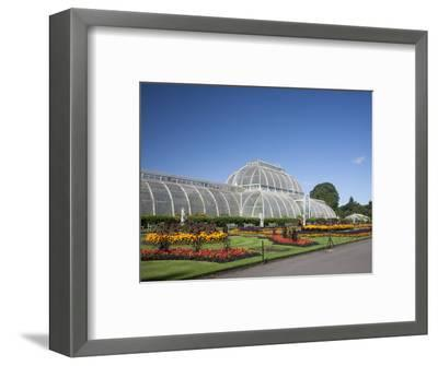 Palm House Parterre with Floral Display, Royal Botanic Gardens, UNESCO World Heritage Site, England-Adina Tovy-Framed Photographic Print