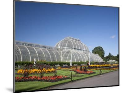 Palm House Parterre with Floral Display, Royal Botanic Gardens, UNESCO World Heritage Site, England-Adina Tovy-Mounted Photographic Print