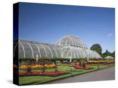 Palm House Parterre with Floral Display, Royal Botanic Gardens, UNESCO World Heritage Site, England-Adina Tovy-Stretched Canvas Print