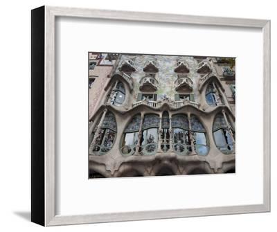 Facade of Casa Batllo by Gaudi, UNESCO World Heritage Site, Passeig de Gracia, Barcelona, Spain-Nico Tondini-Framed Photographic Print