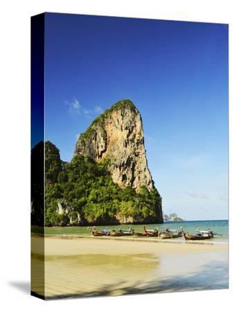 Rai Leh West Beach, Rai Leh (Railay), Andaman Coast, Krabi Province, Thailand, Southeast Asia, Asia-Jochen Schlenker-Stretched Canvas Print