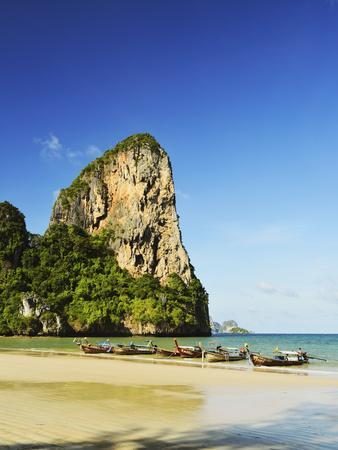 Rai Leh West Beach, Rai Leh (Railay), Andaman Coast, Krabi Province, Thailand, Southeast Asia, Asia-Jochen Schlenker-Photographic Print