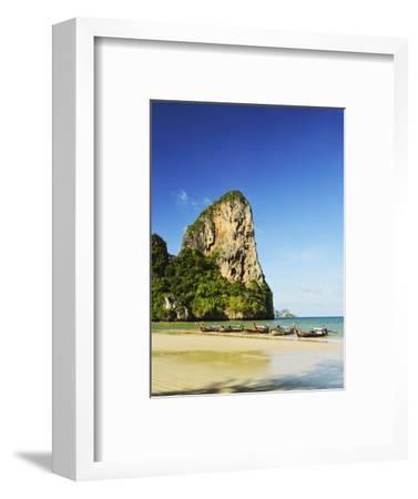 Rai Leh West Beach, Rai Leh (Railay), Andaman Coast, Krabi Province, Thailand, Southeast Asia, Asia-Jochen Schlenker-Framed Photographic Print
