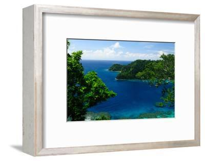 Horse Shoe Bay, Fiji, South Pacific, Pacific-Bhaskar Krishnamurthy-Framed Premium Photographic Print