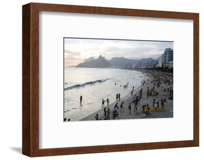 Ipanema Beach, Rio de Janeiro, Brazil, South America-Yadid Levy-Framed Photographic Print