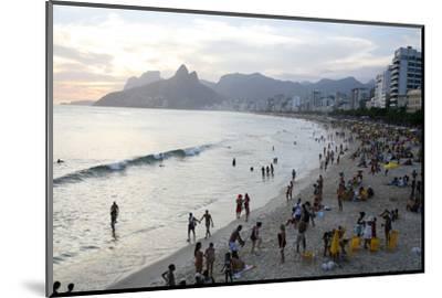 Ipanema Beach, Rio de Janeiro, Brazil, South America-Yadid Levy-Mounted Photographic Print