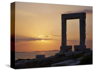 Gateway, Temple of Apollo, Archaeological Site, Naxos, Cyclades, Greek Islands, Greece, Europe-Tuul-Stretched Canvas Print