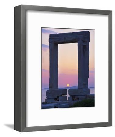 Gateway, Temple of Apollo, Archaeological Site, Naxos, Cyclades, Greek Islands, Greece, Europe-Tuul-Framed Photographic Print
