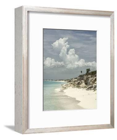 Deserted Island (Cay), Eastern Providenciales, Turks and Caicos Islands, West Indies, Caribbean-Kim Walker-Framed Photographic Print