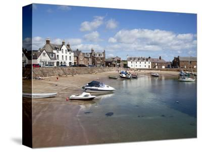 The Harbour at Stonehaven, Aberdeenshire, Scotland, United Kingdom, Europe-Mark Sunderland-Stretched Canvas Print