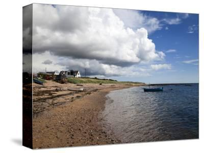 Fishing Boats on the Beach at Carnoustie, Angus, Scotland, United Kingdom, Europe-Mark Sunderland-Stretched Canvas Print