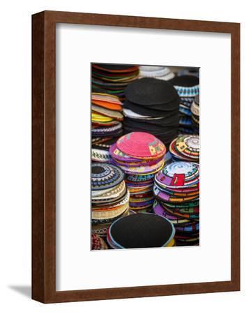 Colourful Kipas, Jerusalem, Israel, Middle East-Yadid Levy-Framed Photographic Print