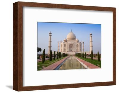 The Taj Mahal, UNESCO World Heritage Site, Agra, Uttar Pradesh, India, Asia-Gavin Hellier-Framed Premium Photographic Print