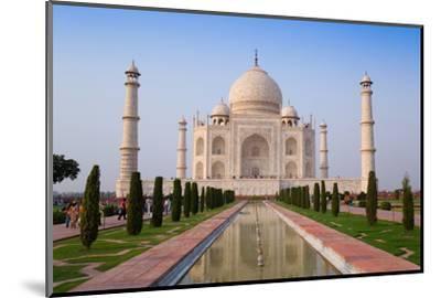 The Taj Mahal, UNESCO World Heritage Site, Agra, Uttar Pradesh, India, Asia-Gavin Hellier-Mounted Premium Photographic Print