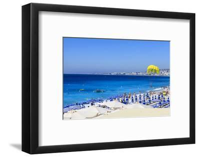 Beach Scene, Nice, Alpes Maritimes-Amanda Hall-Framed Photographic Print