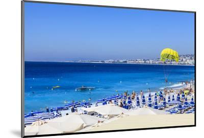 Beach Scene, Nice, Alpes Maritimes-Amanda Hall-Mounted Photographic Print